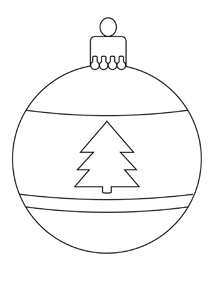 christmas coloring page tree ornament