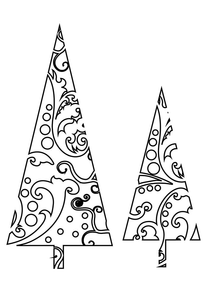 christmas tress coloring page