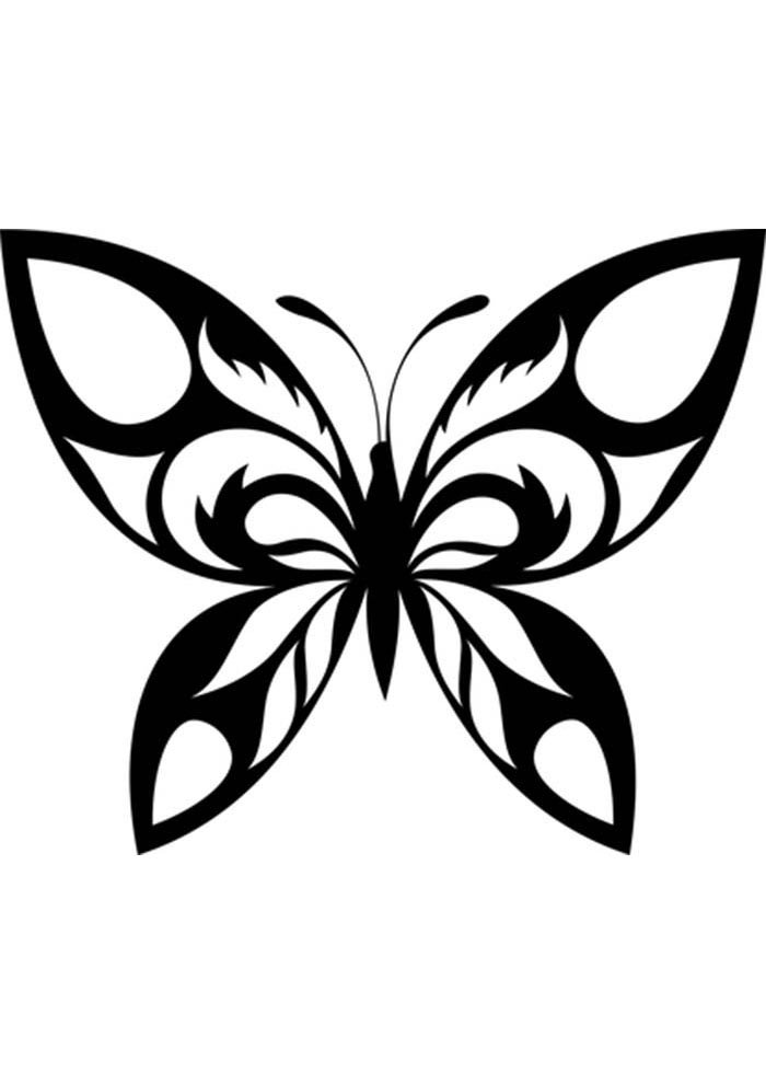 coloring page of butterfly and flower