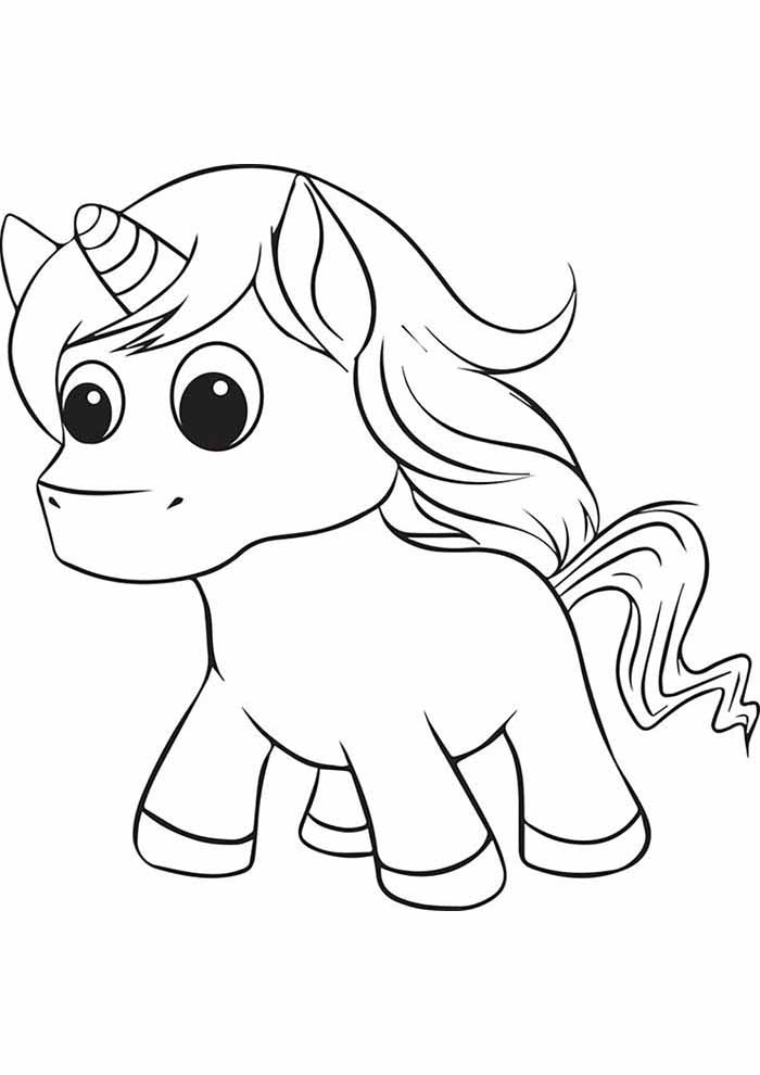 cute baby unicorn coloring page