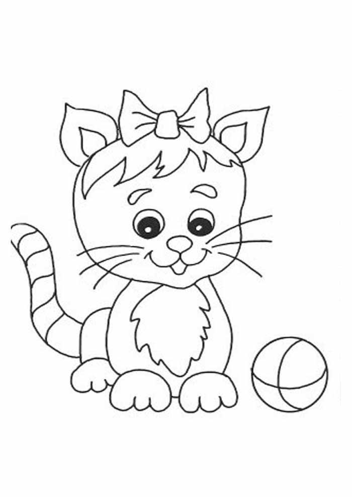 cute little cat coloring page