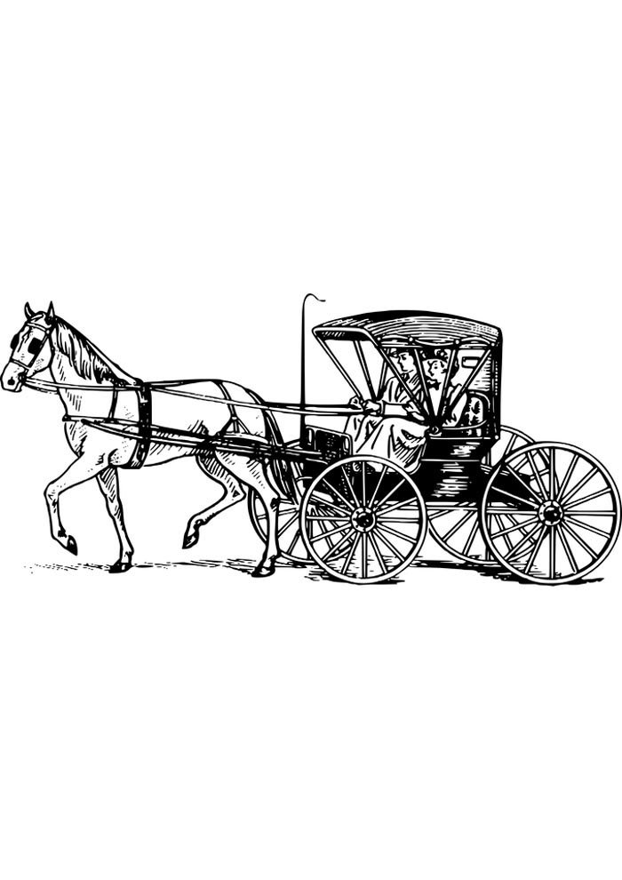 detailed horse coloring page