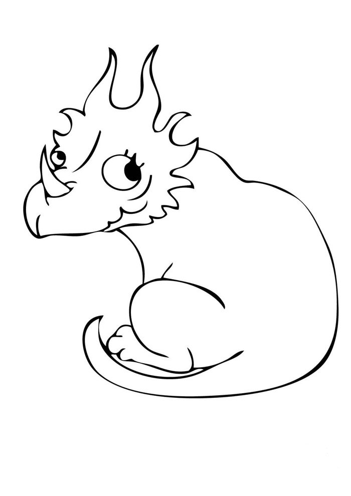 dinosaur coloring page 14