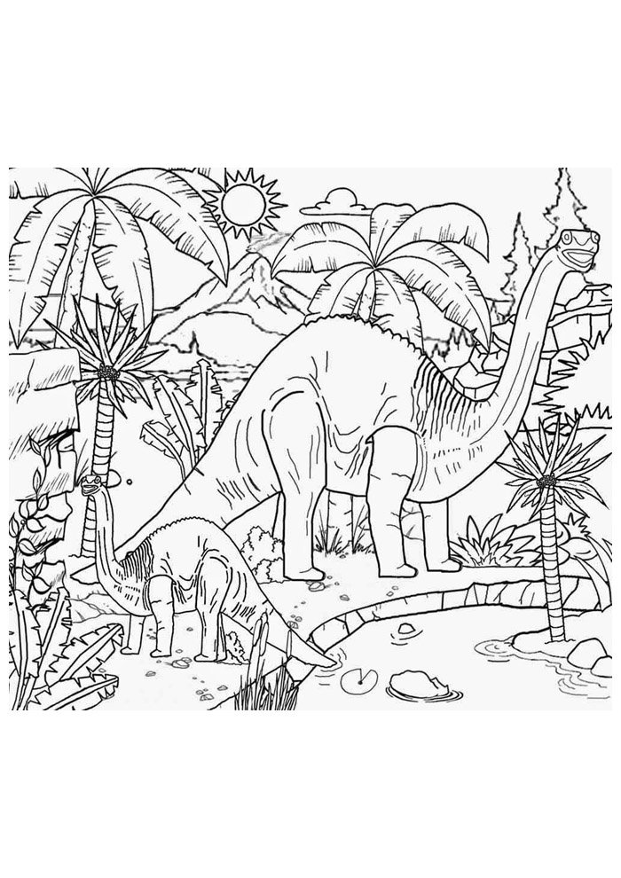 dinosaur coloring page 16