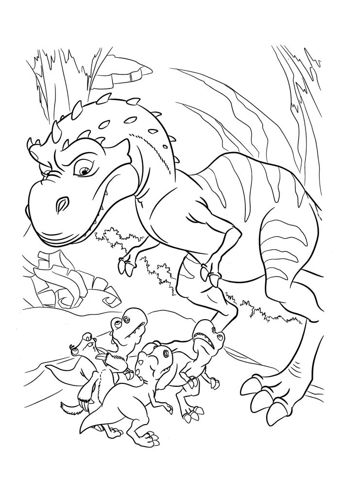 dinosaur coloring page 3