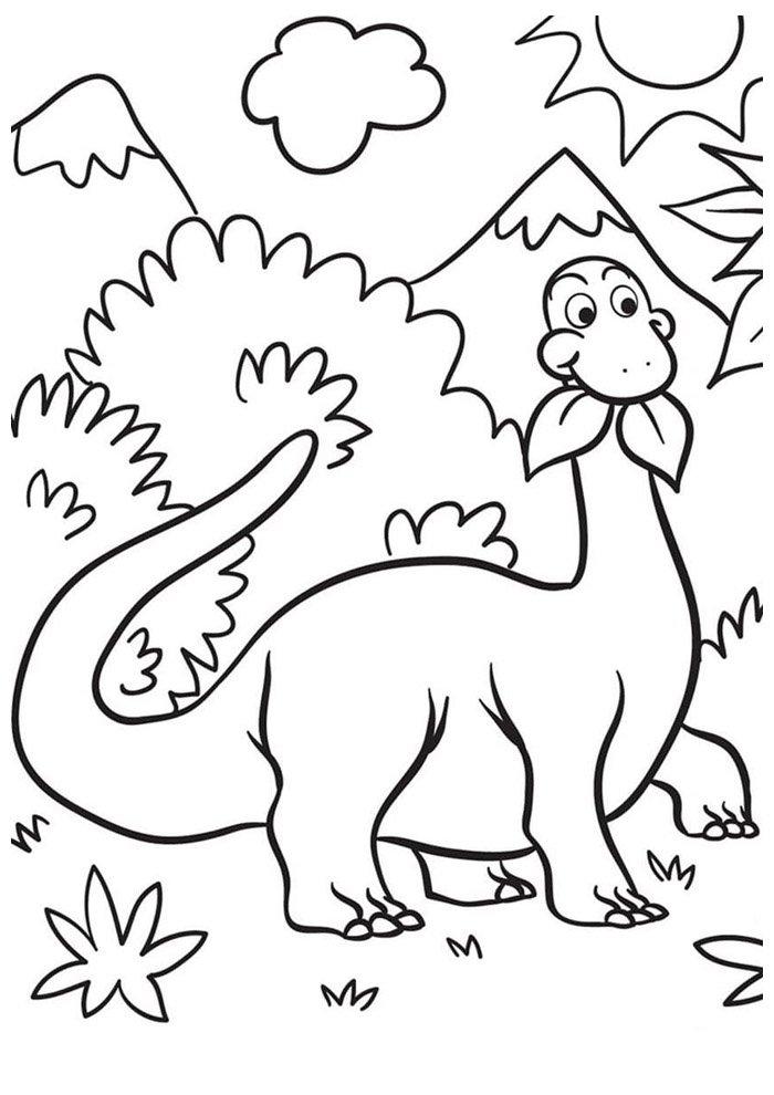 dinosaur coloring page 43