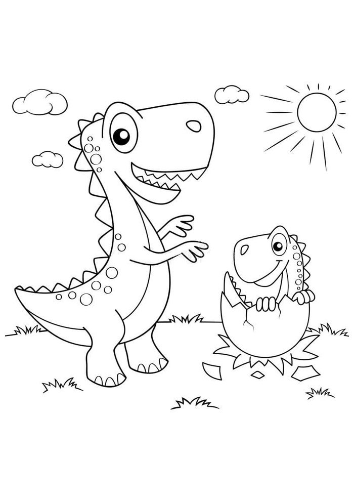 Printable Dinosaur Coloring Pages Dinosaurg Pictures Preschool ... | 990x700