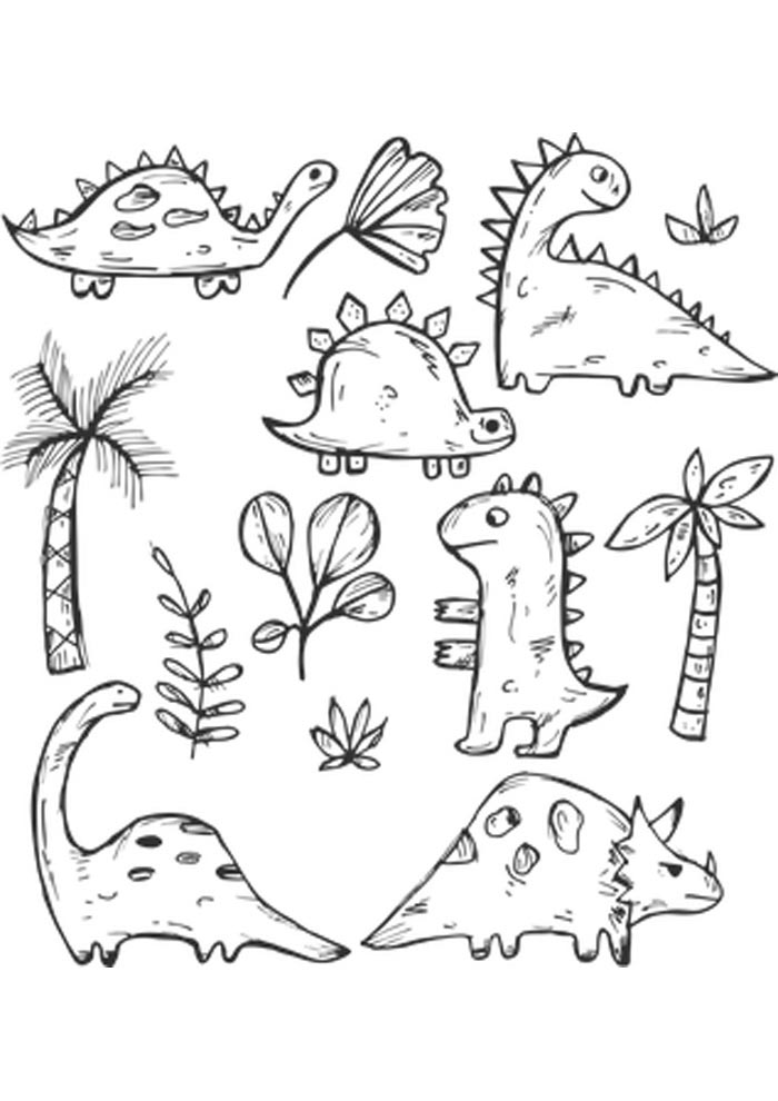 dinosaur coloring pages for kid