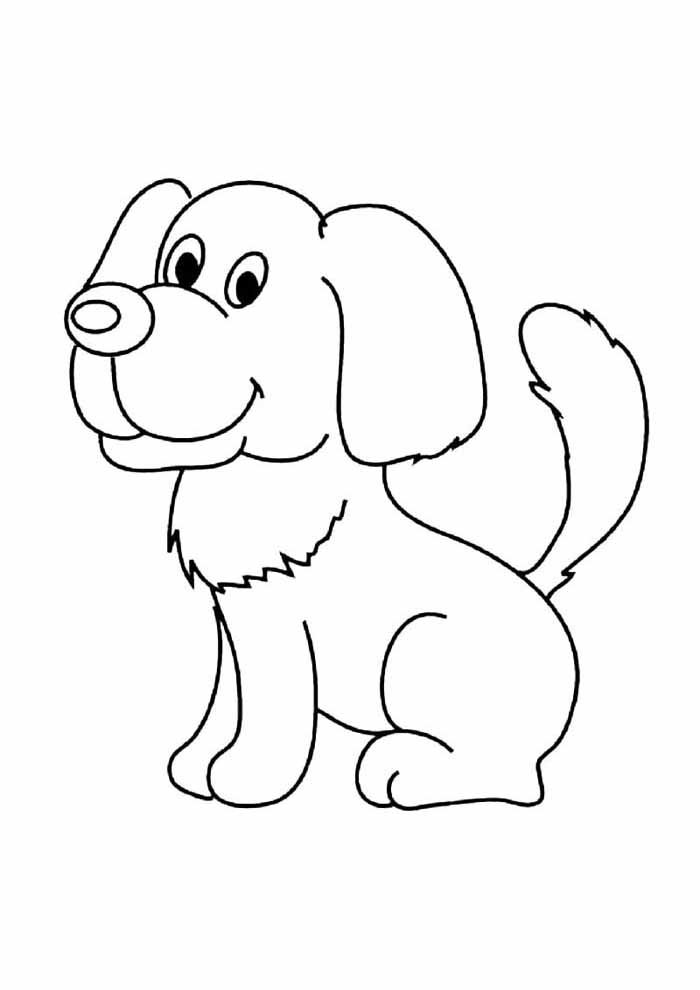 dog coloring page funny