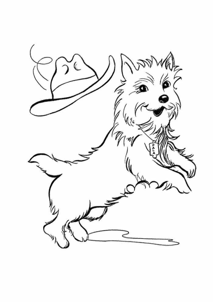 dog coloring page jumping
