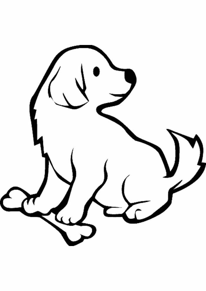 dog coloring page looking behind