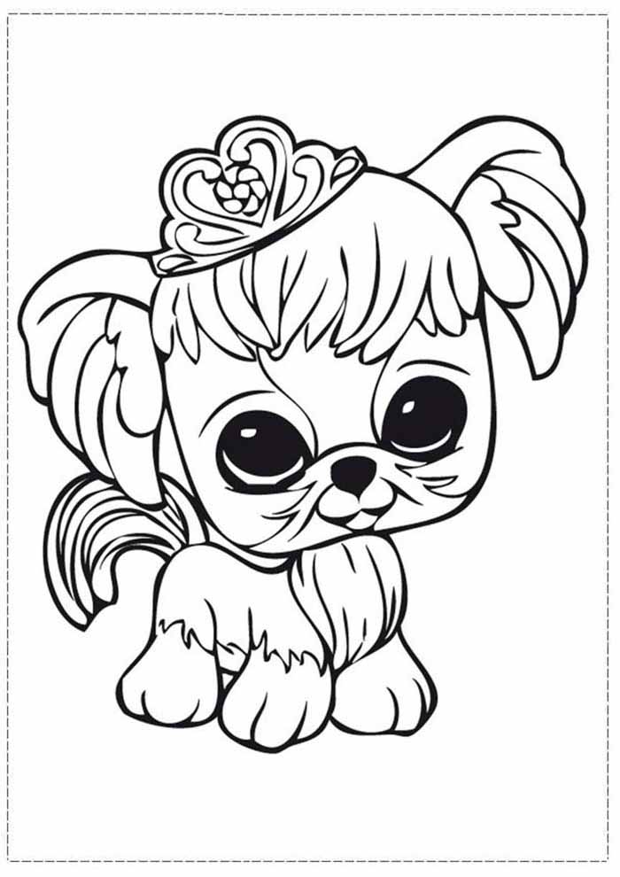 dog coloring page princess