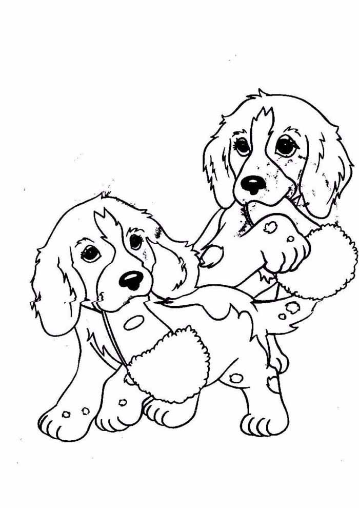dogs coloring page friends