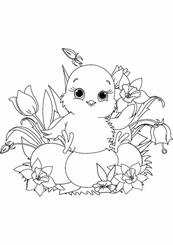 easter coloring page 1