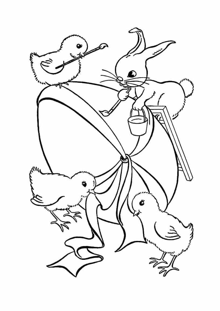 easter coloring page 16