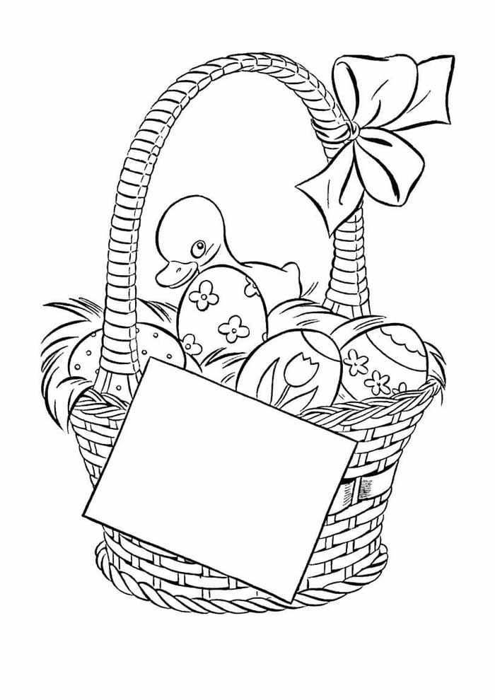 easter coloring page 5