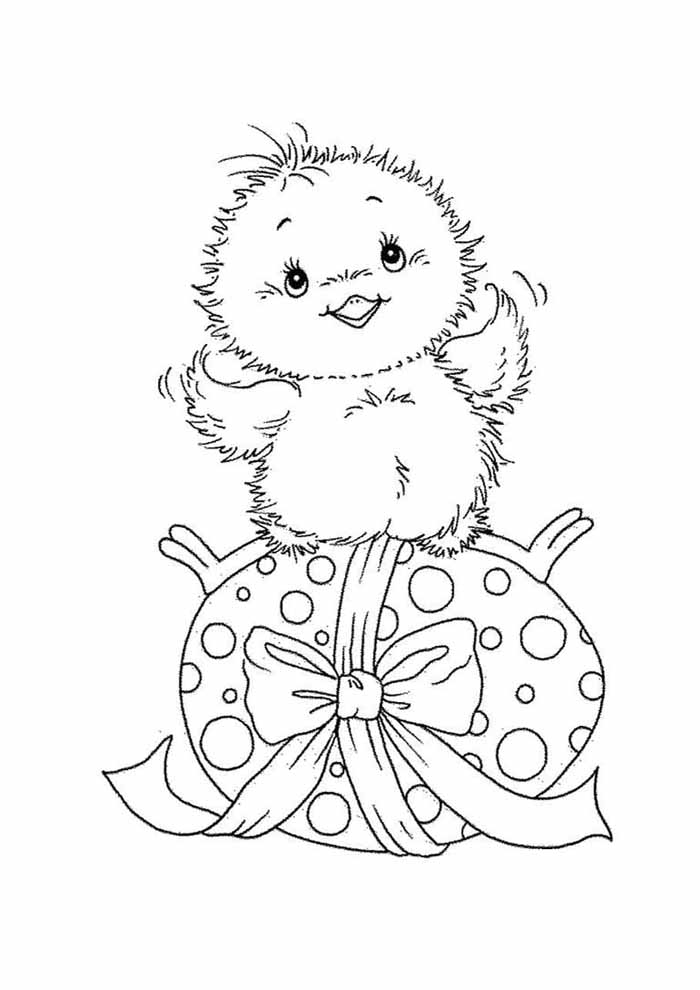 easter coloring page little bird