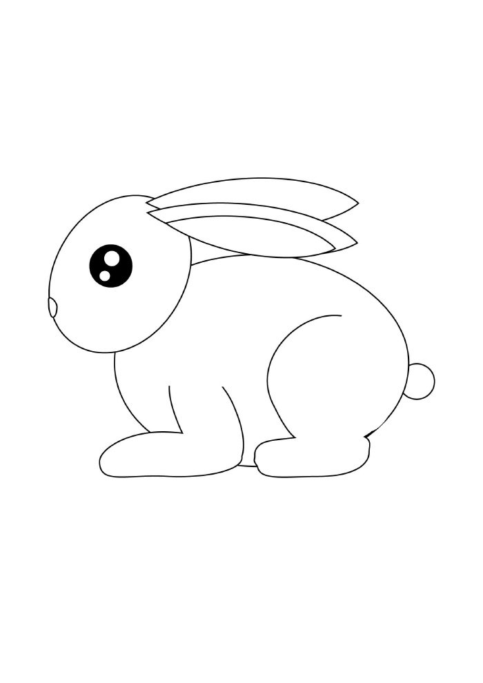 easter coloring page little bunny