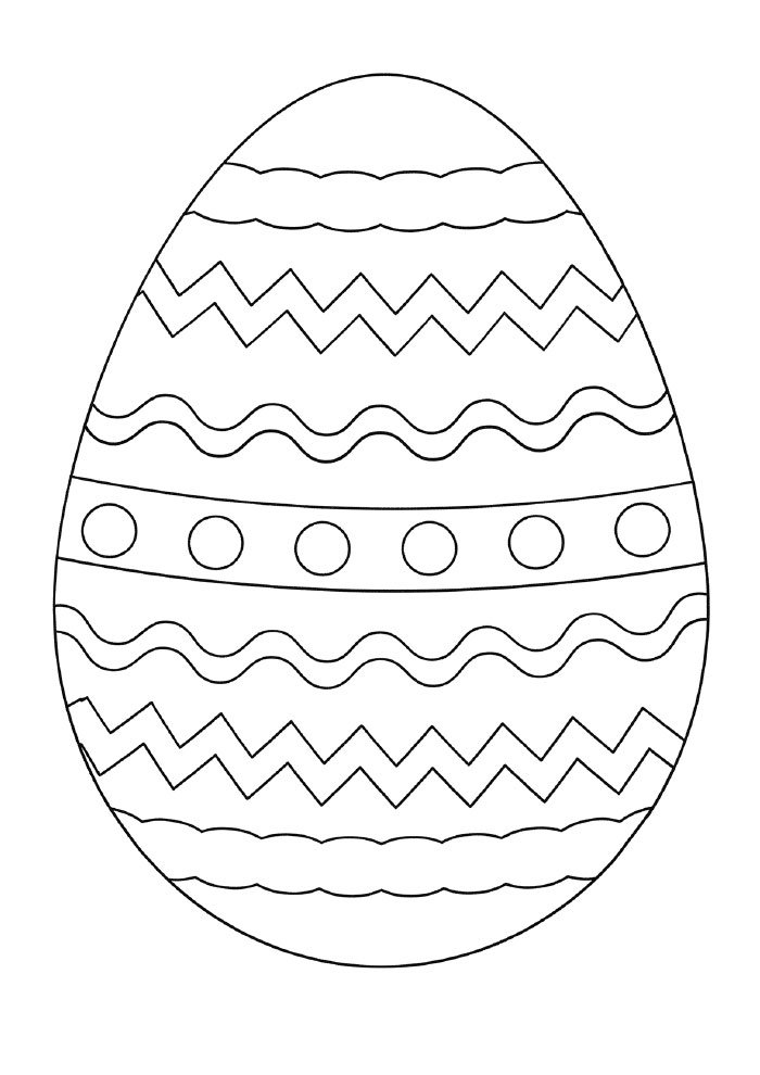 easter egg coloring page decorated