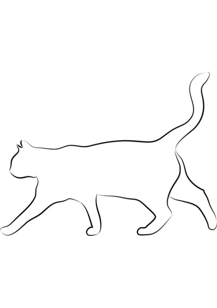 easy cat coloring page