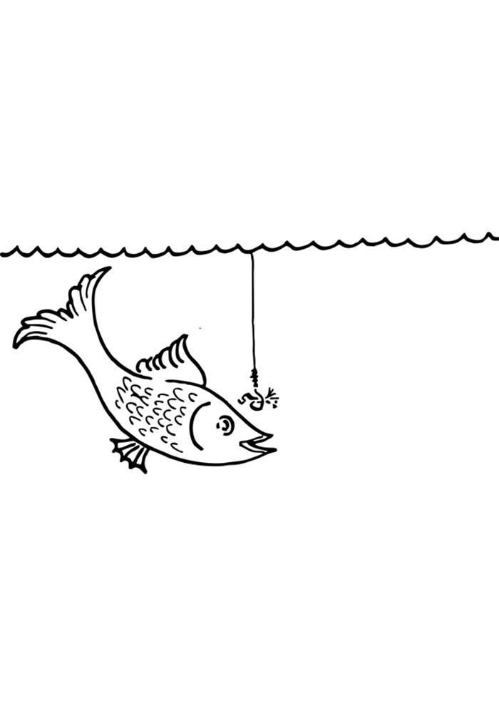 fish colouring template