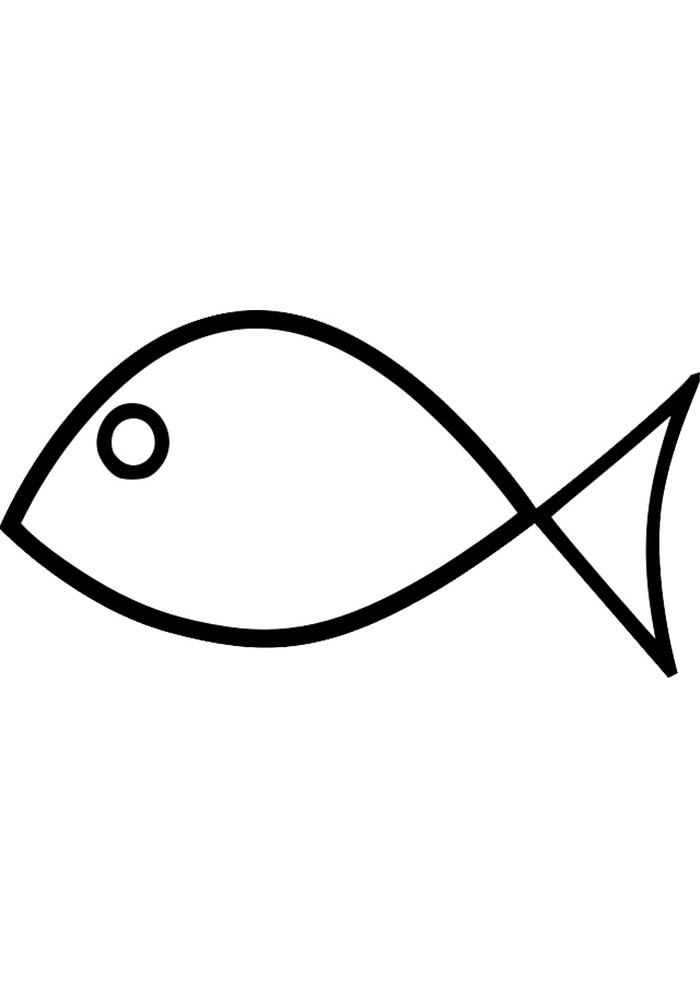 fish edge coloring page for kids