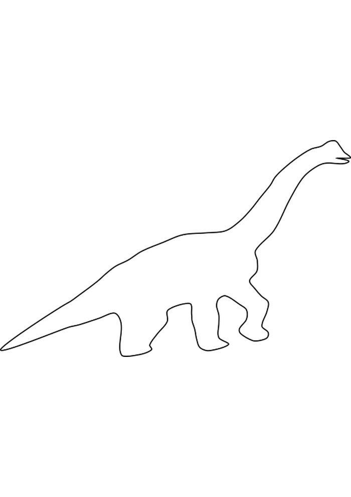 free dinosaur coloring page