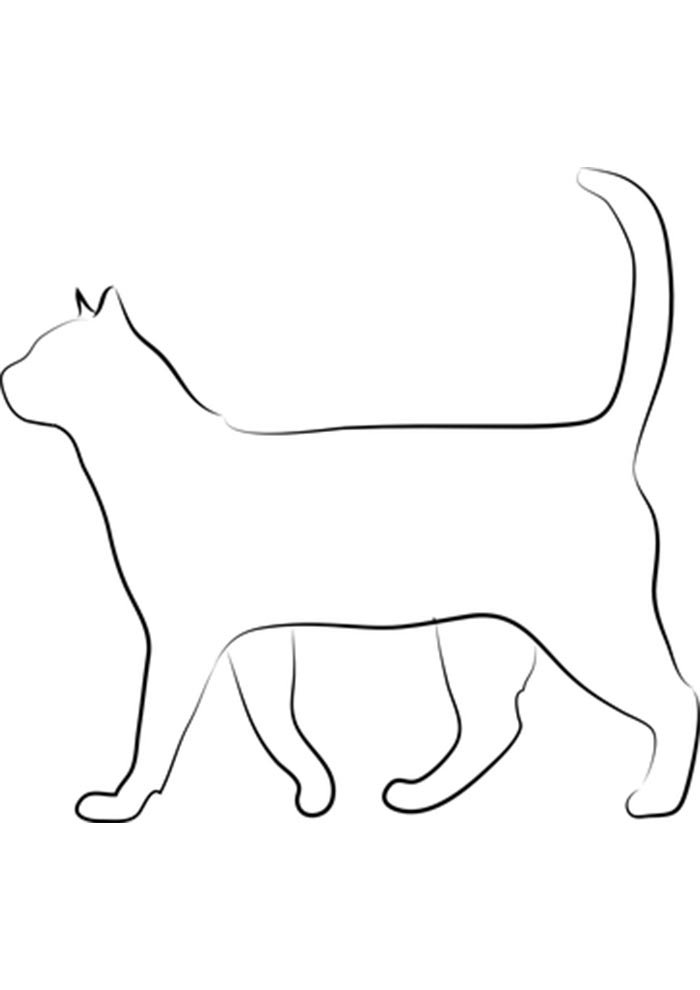 free kitten coloring page