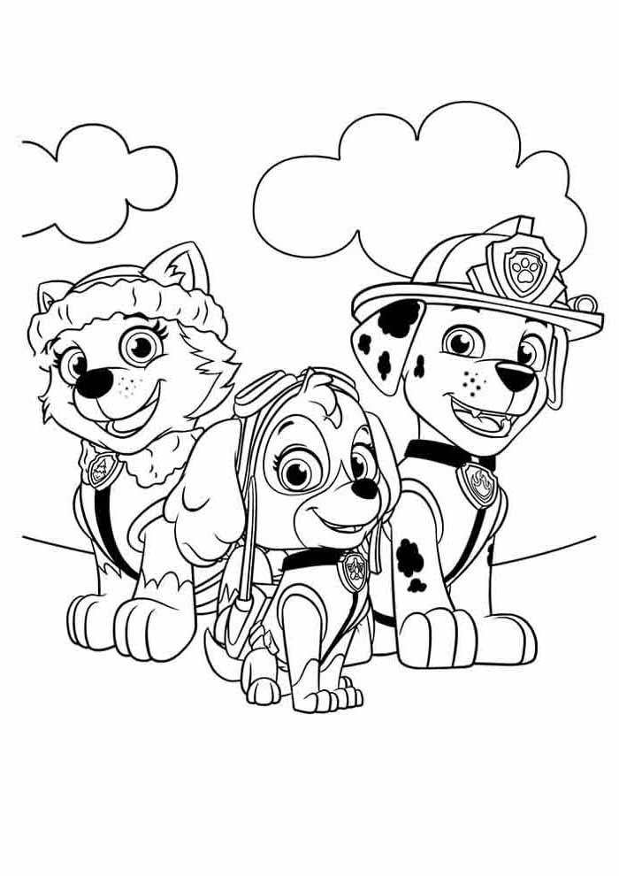 free printable paw patrol coloring page