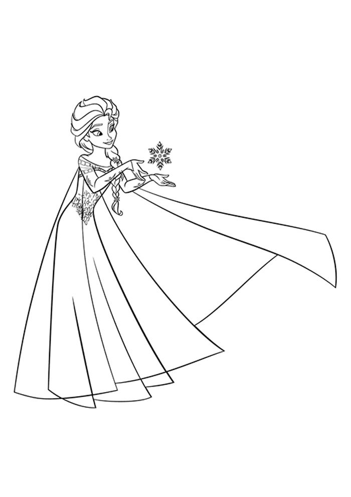 frozen coloring page holding ice