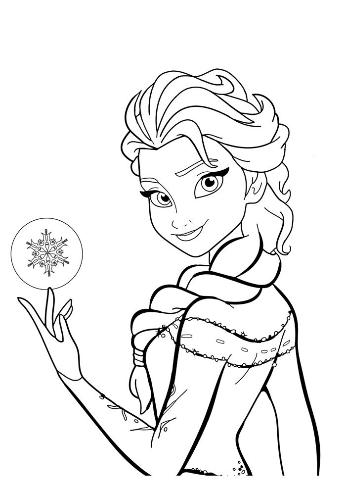 frozen face coloring page