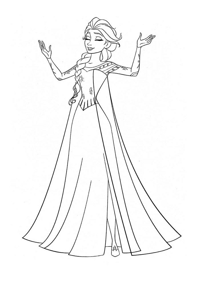 frozen singing coloring page