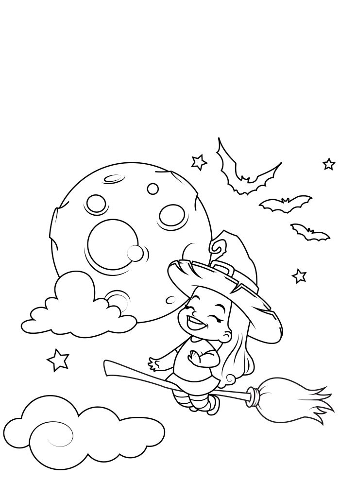halloween coloring page 3