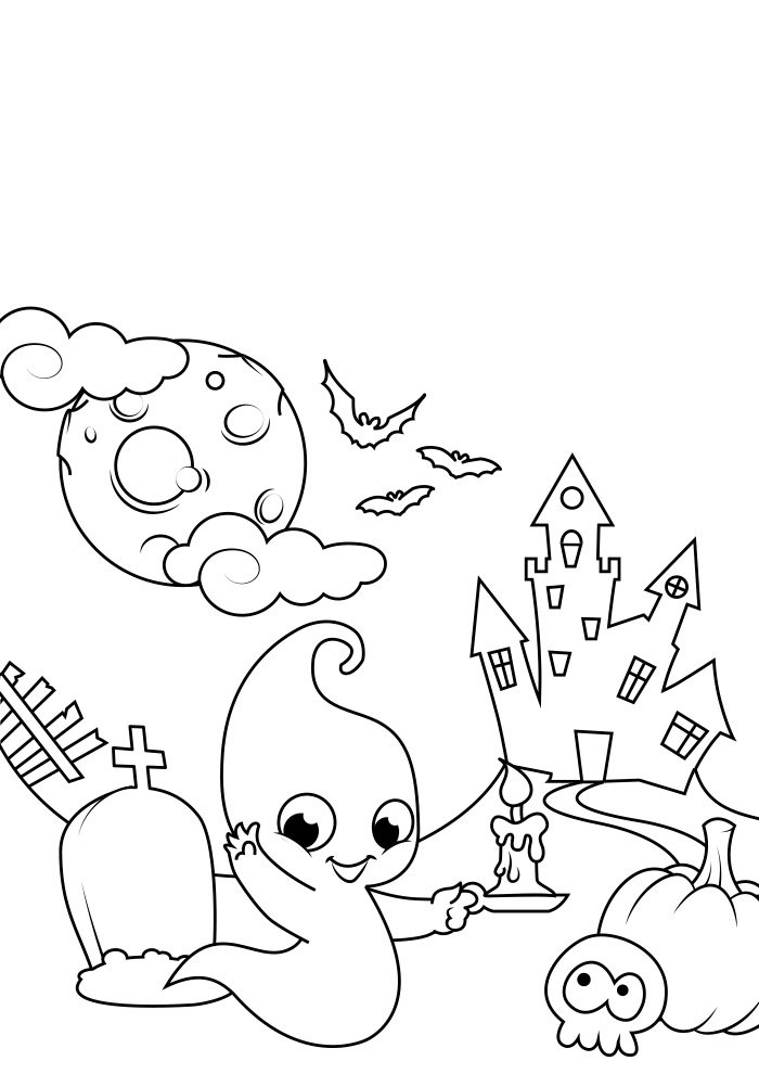 halloween coloring page 7