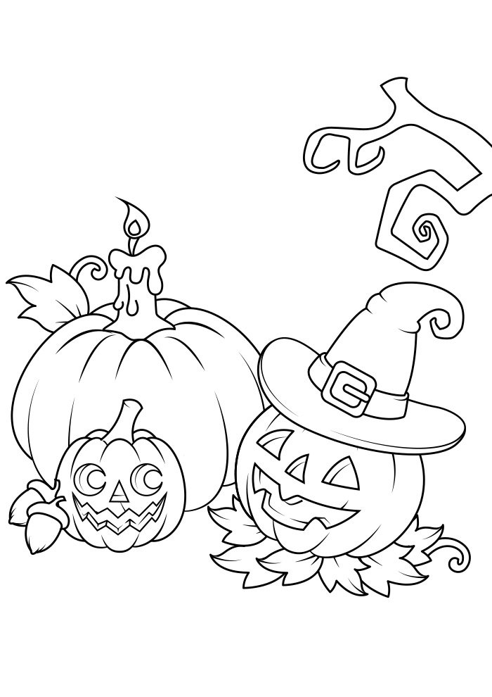 halloween coloring page 9