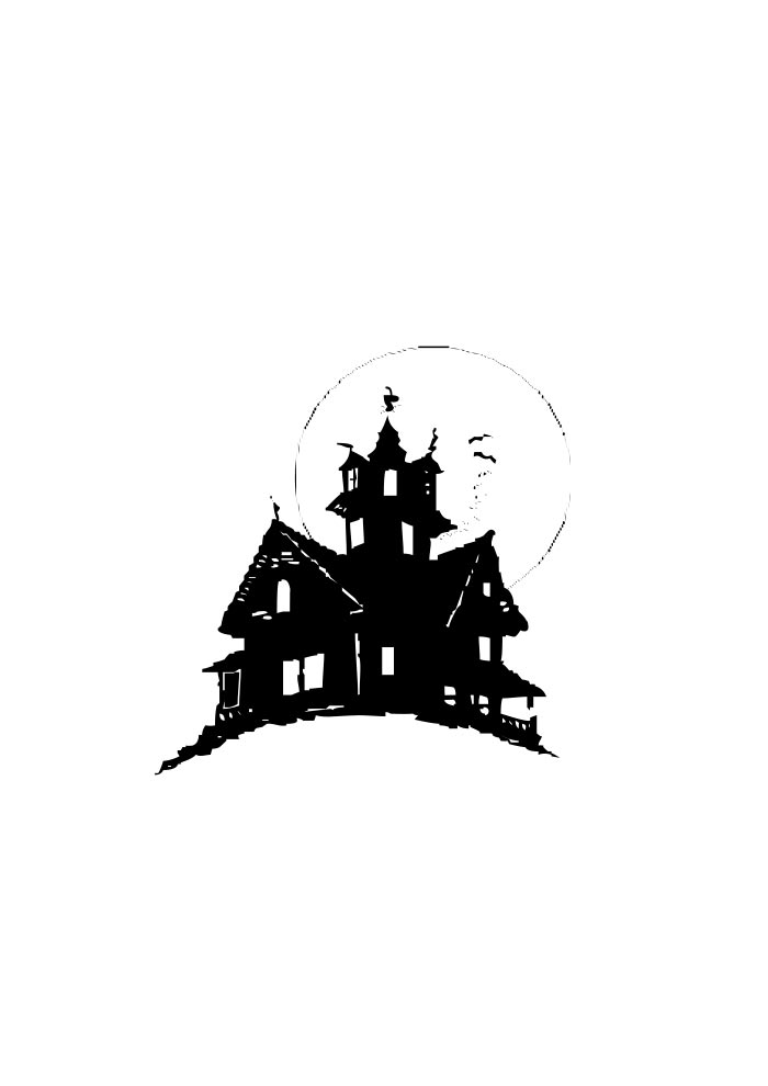 halloween coloring page castle