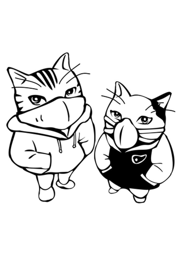 halloween coloring page cat