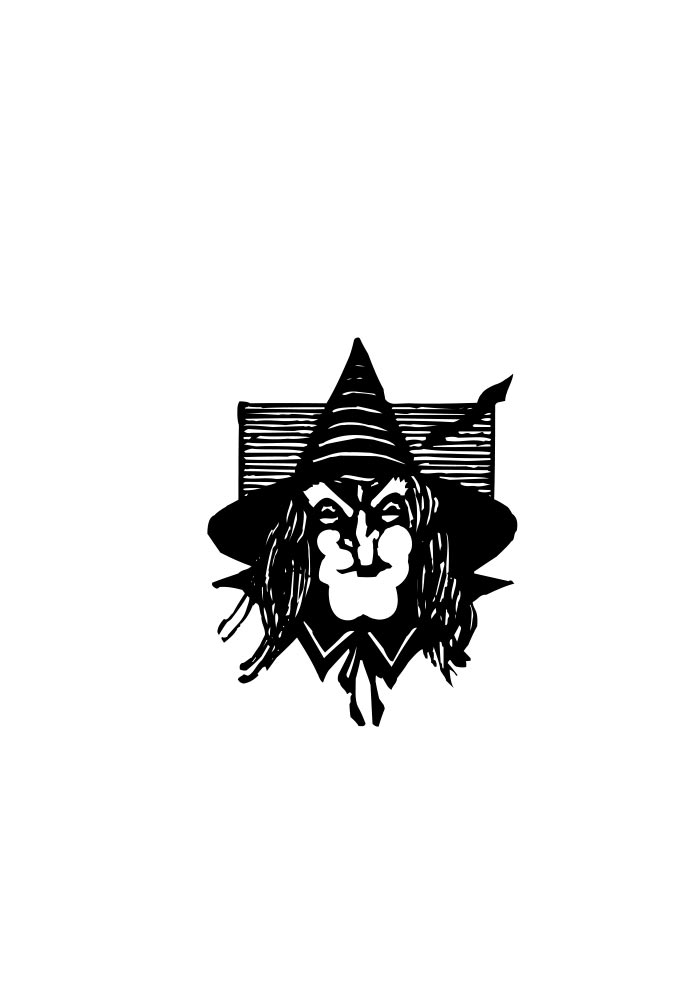 halloween coloring page witch face