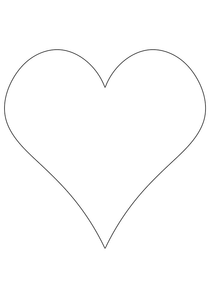 heart coloring page and print