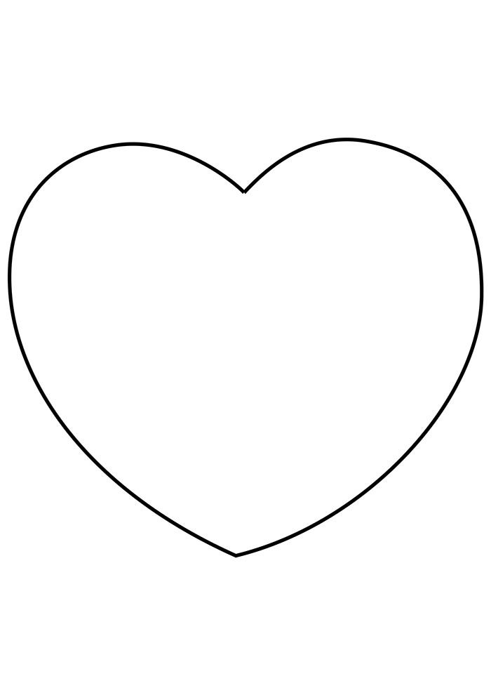 heart coloring page big