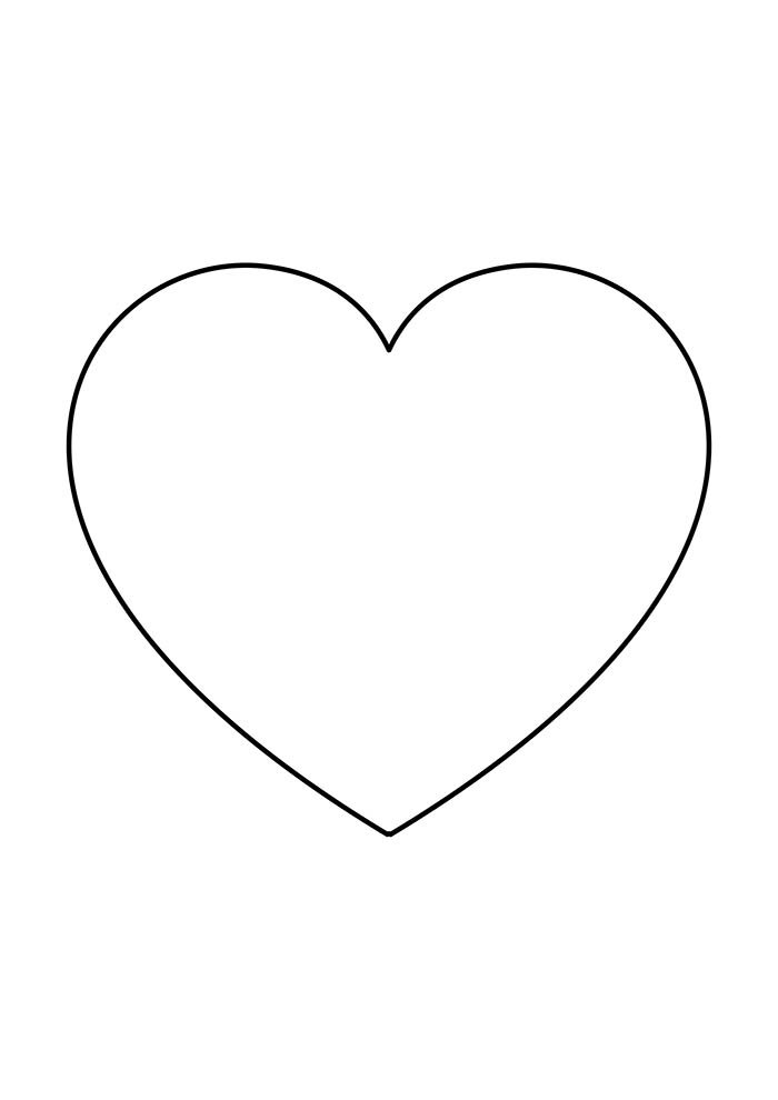 heart coloring page cute