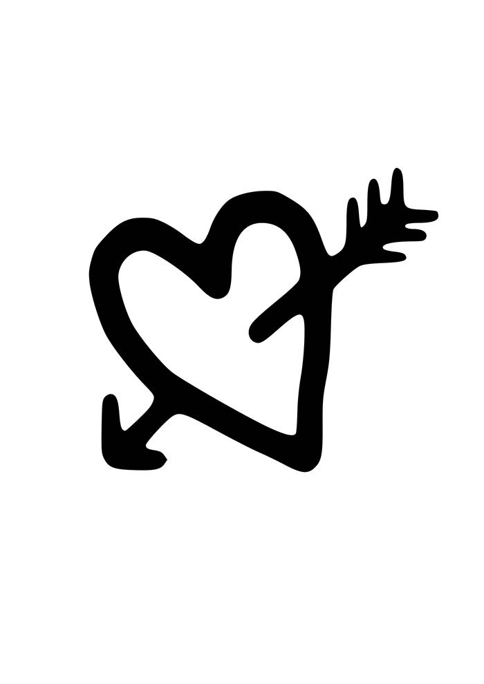heart coloring page drawing