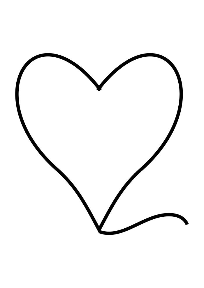 heart coloring page edge