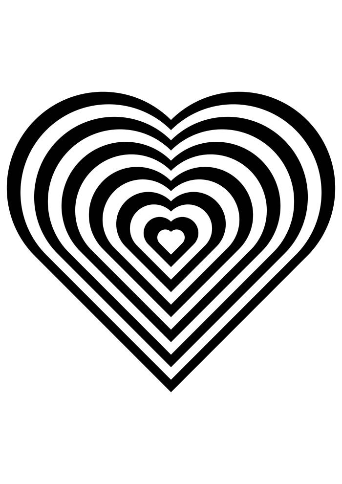 heart coloring page endless