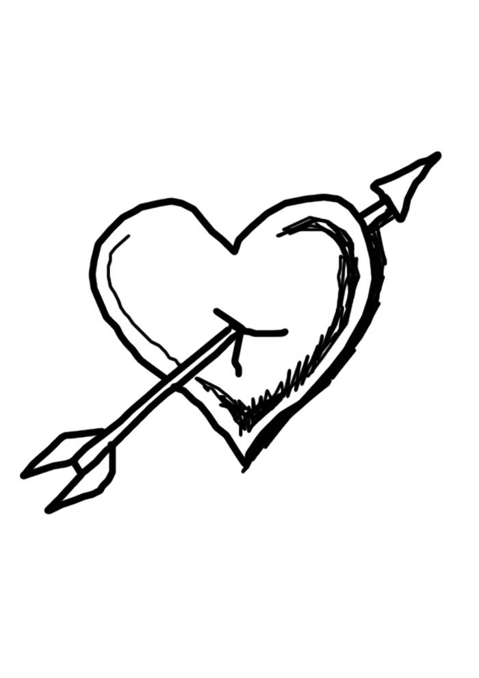 heart coloring page flexed