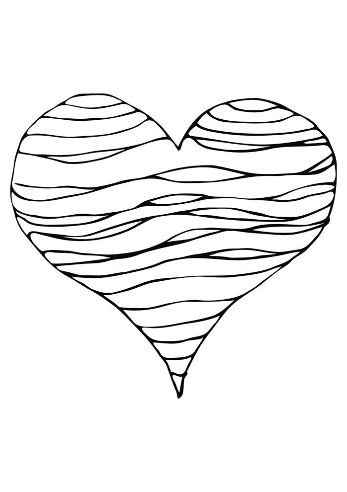heart coloring page happy