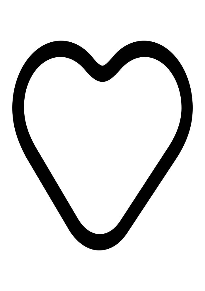 heart coloring page image