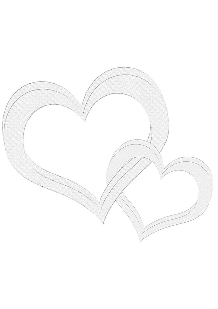 heart coloring page interwined