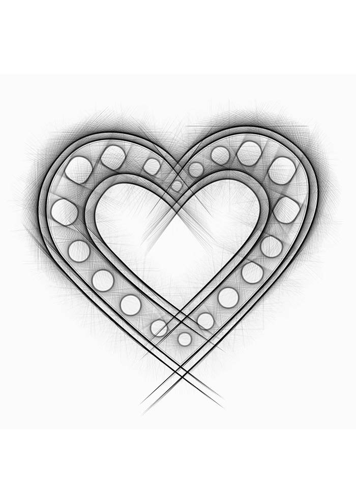 heart coloring page lovely