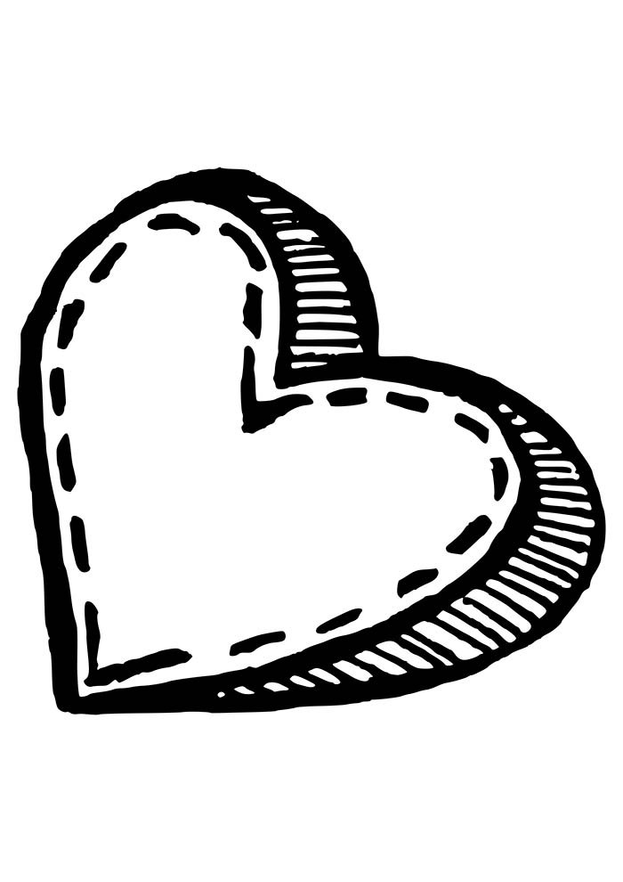 heart coloring page mothers day